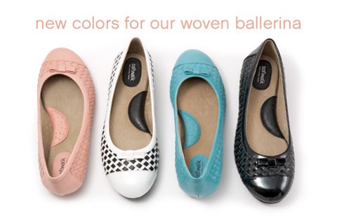 New colors for our woven ballerina