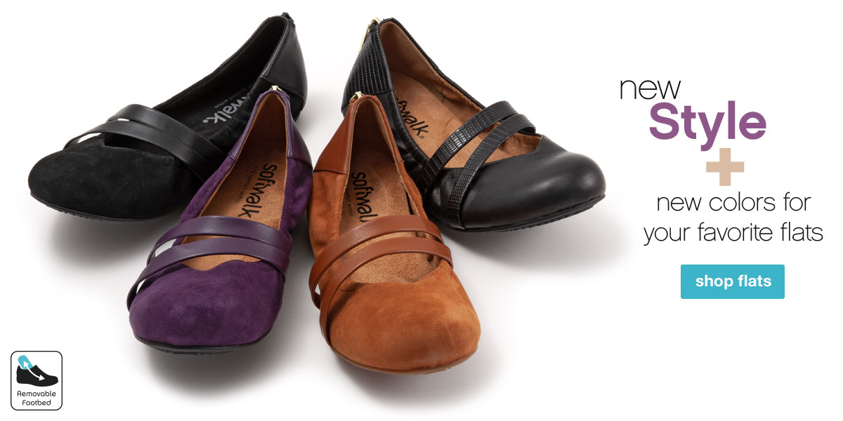 New Style + New Colors for your favorites. Shop Flats.