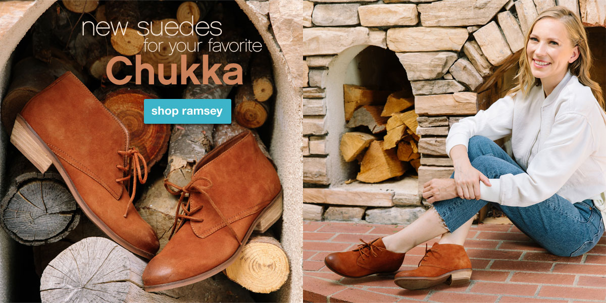 New Suedes for your favorite chukka. Shop Ramsey.