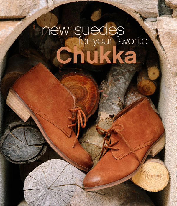 New Suedes for your favorite chukka.
