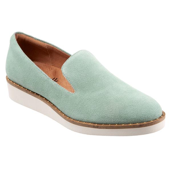 Westport Sea Foam Green Suede
